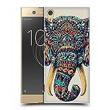 Head Case Designs Offizielle Bioworkz Elefanten Verziert Bunte Tierköpfe 1 Ruckseite Hülle für Sony Xperia XA1 Ultra/Dual
