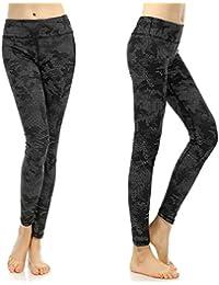 Pantalones de yoga de estiramiento de cintura alta de las polainas del entrenamiento de la mujer de SOUTEAM, modelo de la acuarela