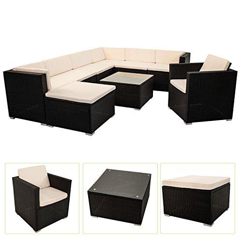 Polyrattan Gartenmöbel Lounge Sitzgruppe South Beach XL