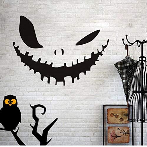y Halloween Party Decals Moderne Wandaufkleber Für Schlafzimmer Wohnzimmer Wohnkultur Wasserdicht Zubehör Tapete 44x32 cm ()