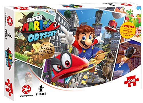 Winning Moves GmbH 11316 - Puzzle: Super Mario Odyssey World Traveler (500 Teile)