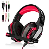 Beexcellent 3.5mm Gaming Headset para PlayStation 4, Xbox One, PC, Portátiles, Smartphones, Red