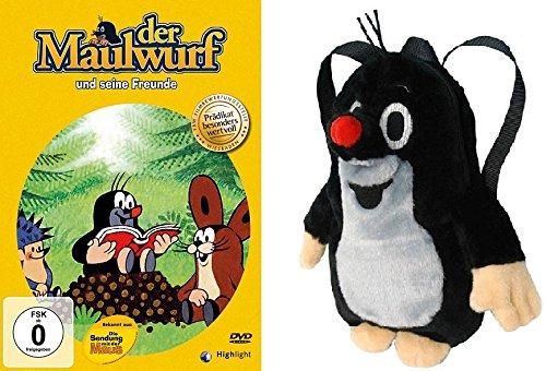Der kleine Maulwurf - Rucksack ca. 30 cm + DVD Der Maulwurf und seine Freunde im Set - Deutsche Originalware [1 DVD + Rucksack] (Ca Rucksäcke)