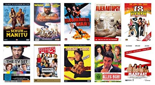 """DVD-Pack """"Komödie"""" * 10 DVD-Filme mit abgefahrenem Humor und schrägen Vögeln * Der Schuh des Manitu (Deluxe) * Aladin (Bud Spen"""