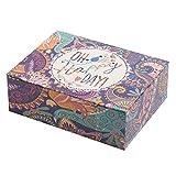 Creibo Cbox004–Scatola in cartone decorata con motivo 'Oh Happy Day' (lingua inglese)
