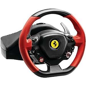 thrustmaster f458 spider volant de course pour xbox one noir rouge pc jeux vid o. Black Bedroom Furniture Sets. Home Design Ideas