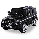 Original MercedesBenz AMG G55 High Door - Leder Sitz Jeep Lizenz Elektro Kinderauto Kinderfahrzeug Spielzeug (schwarz)