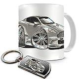 Koolart Ultimate Cartoon Aston Martin James Bond Casino Royale Coffee Mug and Keyring Gift Set