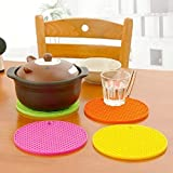 MILESTOUCH - Set Of 2 Pcs Heat Resistant Pot Holder Disc Pads Car Dashboard Anti-Slip-Resistant Dining Table Coasters