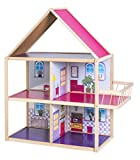 Impag Riesen Puppenhaus aus Holz für Barbie geeignet 85 x