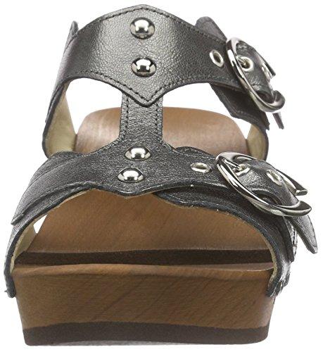 Woody Leonie, Chaussures de Claquettes femme Noir - Schwarz (Antracite)