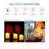 ORIA LED Kerzen mit Timerfunktion, 9 Flammenlose Kerzen Elektrische Teelichter mit Fernbedienun, Batterie & 3 Modi, Romantische Kerzen Teelicht für Weihnachten, Hochzeit, Partys, usw - 3