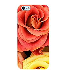 FUSON Extreme Yellow Red Rose 3D Hard Polycarbonate Designer Back Case Cover for Apple iPhone 6s Plus :: Apple iPhone 6s+