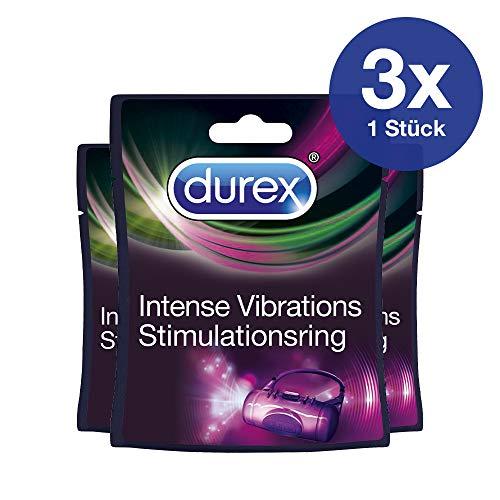 Stimulationsring 3er Set für Sie und Ihn, angenehm weicher Vibratorring zur Stimulation im Intimbereich, 3 Stück Durex Intense Vibrations Stimulationsring
