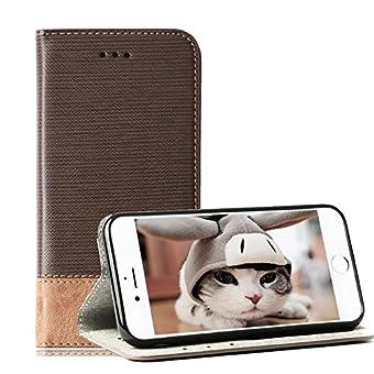 iPhone X 5,8 zoll Case, TechCode iPhone X Tasche - iPhone X PU Leder Brieftasche Hülle - Schlag Mappen Kasten Abdeckung 5,8 Zoll 2017 Schutzhülle Tasche Cover Case Hülle für Apple iPhone X 5,8 zoll (iPhone X, Dunkelbraun)