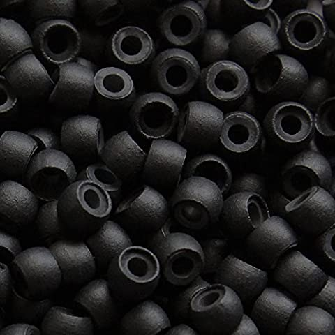 Silicone Lined Nano Rings Beads for use with Nano Tip Hair Extensions Colour: Black | Pieces: 200