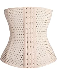 12d714cfb4 KSKshape Waist Trainer Corset for Weight Loss Breathable Shapewear Back  Support Girdle