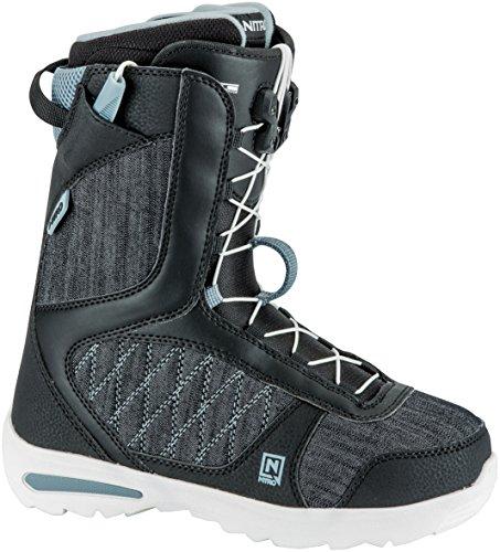 Nitro Snowboards Damen Flora Tls'18 Snowboard Boot, Black, 26 (Snowboard Boa Burton Boots Womens)