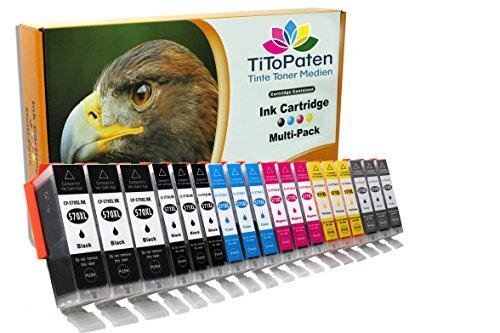 Patronen für Ihren Canon Pixma TS 8050 - Sie erhalten: 3X breit Schwarz, 3X schmal Schwarz, 3X Cyan, 3X Magenta, 3X Gelb, 3X Grau - 100{afca3b87025452e2007e4d11f2a87cd9bc09c9d3a3010e8d142df76a44a33a79} kompatibel, Chip Versehen