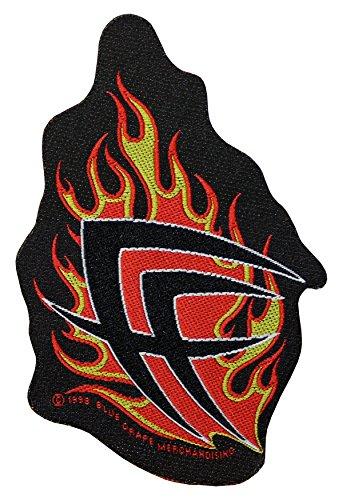 Fear Factory toppa Flames Cutout Patch in tessuto 8x 12cm