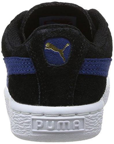 Puma - Scarpe primi passi Suede 2 Straps Kids, Unisex - bambino Nero (Schwarz - Noir (Black/Limoges/Team Gold))