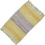 """Modelo tejido mano del trapo de piso Dari Runner Reciclado Sigma algodón Chindi alfombras pequeñas de 36 """"x 24"""" pulgadas"""