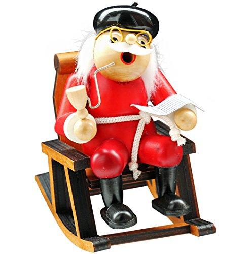 yanka-style Räuchermännchen Räuchermann Räucherfigur Rauchfigur Opa im Schaukelstuhl ca. 16 cm Hoch aus Holz Weihnachten Advent Geschenk Dekoration (30242)