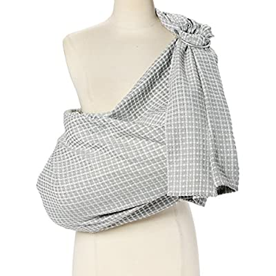 Hip Baby Wrap Ring Sling Baby Carrier for Infants and Toddlers (Kiwi Honeycomb)