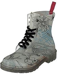 GOSCH SHOES Damen Boots Schuhe Stiefel Transparent 7105-155-8 PVC in Blau (40) VtJoB0Y3D