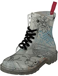 GOSCH SHOES Damen Boots Schuhe Stiefel Transparent 7105-155-8 PVC in Blau (40)