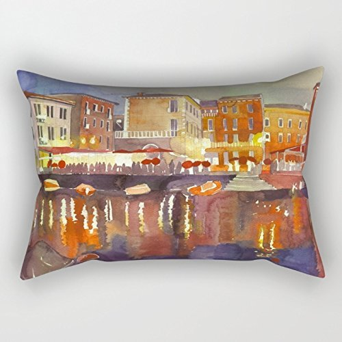 beautifulseason Watercolor Cushion Covers 20 X 30 Inches/50 by 75 cm Best Choice for Teens Divan Dance Room Coffee House Deck Chair with Each Side -