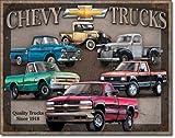 Star 55 Large Car Garage Chevy Chevrolet Truck Vintage Retro Metal Tin Wall