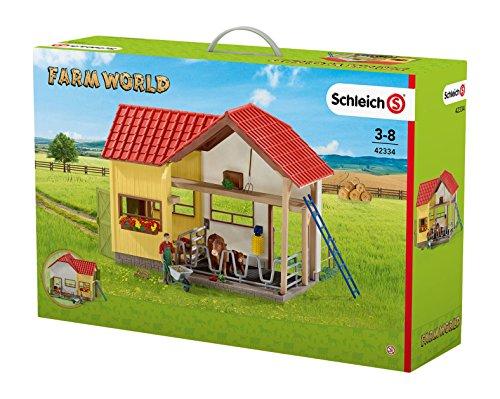 Schleich 42334 - Scheune mit Tieren und Zubehör, mehrfarbig
