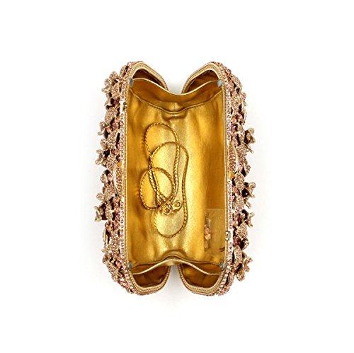 Borsa Da Sera Di Lusso Borsa Da Sposa Di Diamante Delle Donne Gold