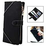 Xrten Ladies Wallet, Super Large Capacity with Gift Box, Zipper Section for Smart