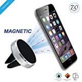#7: West7 Mobile Phone Holder Magnetic For Car Ac Vent | Universal Car Mobile Mount | Car Mobile Stand With 360° rotation. (Silver)