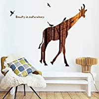 Rainbow Fox Jungle Forest Animal Wall Stickers Removable Giraffe Elephant Stickers for Home Decor Paper Cut Silhouette