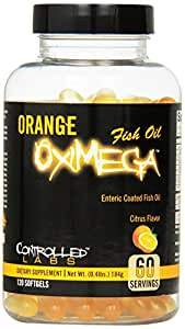 Controlled Labs Orange Oximega Fish Oil, Citrus Flavor, 120 SoftGels