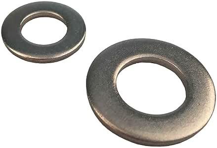 conformi a/DIN 125 Set di 50 rondelle in acciaio inox A2 adatte da M2/fino a M24