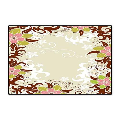 Kleine Fußmatte mit Geometrischem abstraktem Muster mit Dreiecken, Ombre-Stil, 40,6 x 61 cm, Türkis/Limettengrün / Gelb 16x24 inch (40cm x 60cm) Color08