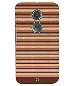PrintDhaba Tribal Pattern D-1730 Back Case Cover for MOTOROLA MOTO X2 (Multi-Coloured)