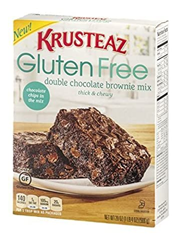 Krusteaz Gluten Free Double Chocolate Brownie Mix (Pack of 3) by Krusteaz