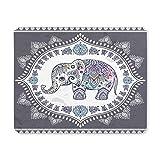 Yanteng Cojín de ratón del Juego, cojín de ratón Ordenador Mousepad de Goma Antideslizante del Elefante étnico del Vintage