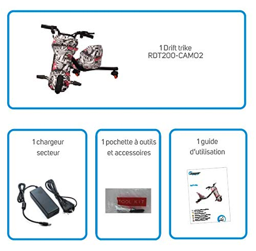 BEEPER Drift-Trike Elektro Elektrokart für Kinder 200W 24V 4,4Ah RDT200-CAMO2