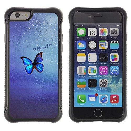 Graphic4You Miss you Butterfly Design Shockproof Anti-Rutsch Weichen Hülle Case Tasche Schutzhülle für Apple iPhone 6 Plus / 6S Plus Design #11