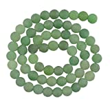 #9: Imported 6mm Round Green Aventurine Gemstone Loose Beads Jewelry Making Findings 15