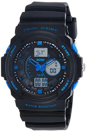 SKMEI Analog-Digital Multi-Colour Dial Men's Watch - AD0955 (BK Blue)