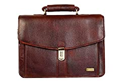 SCHARF Adel Harvey Noble Law of Business Genuine Leather Crossbody Portfolio Laptop Carrycase AMB127
