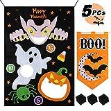 Tacobear Juego de Lanzamiento Juego Toss Bolsa de Frijoles Bean Bag Toss Game Juego de Halloween Juego de Fiesta con 3 Bolsas de Frijol y 1 decoración Colgante de Halloween para niños y Adultos