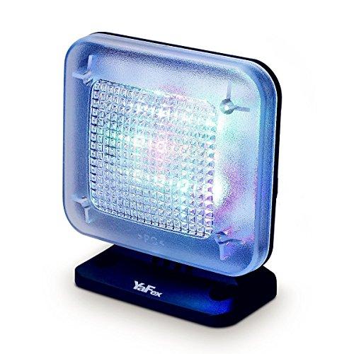 YaFex TV Simulator zum Einbruchschutz, Home-Security, Intelligente Fake TV mit 12 LED, 3 Wählbaren Modi, Zeitschaltuhr, Lichtsensor